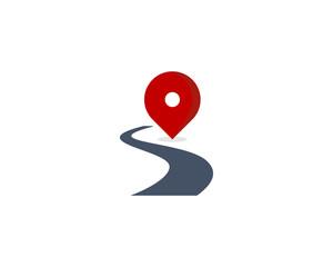 Route Road Icon Logo Design Element