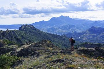Beautiful mountains in the Kara-dag reserve, Koktebel, Crimea