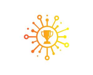 Trophy Share Icon Logo Design Element
