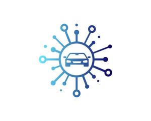 Share Car Icon Logo Design Element