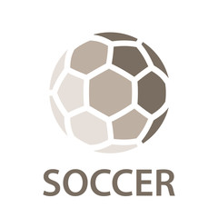 soccer ball brown icon symbol vector
