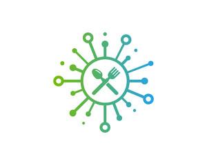 Share Food Icon Logo Design Element