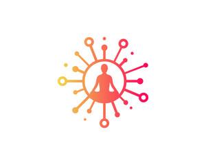 Share Yoga Icon Logo Design Element