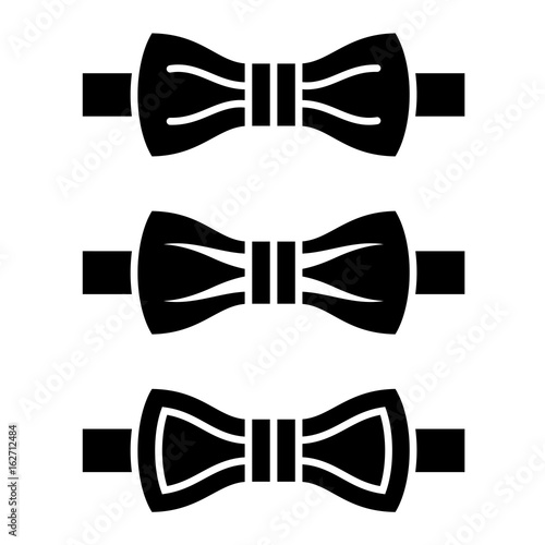 Vector Bow Tie Black Symbols Stock Image And Royalty Free Vector