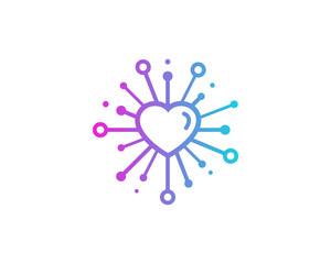 Love Share Icon Logo Design Element