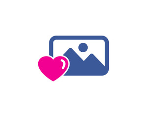 Picture Love Social Media Icon Logo Design Element