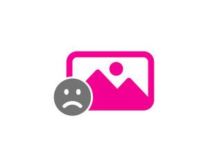 Picture Sad Social Media Icon Logo Design Element
