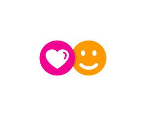 Love Happy Social Network Icon Logo Design Element