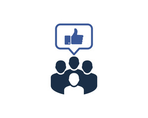 Group Like Social Network Icon Logo Design Element