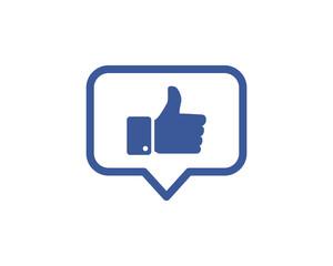 Like Social Network Icon Logo Design Element