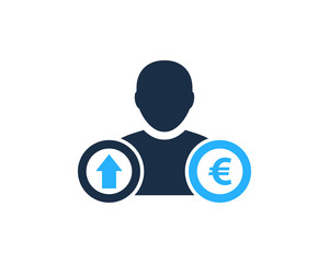 People Euro Stock Market Business Icon Logo Design Element