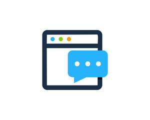 Online Feedback Testimonial Icon Logo Design Element
