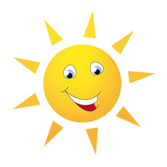 Sonne Smiley mit Augen und einem Lächeln
