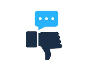 Dislike Feedback Testimonial Icon Logo Design Element
