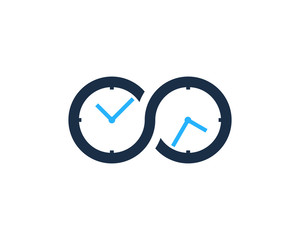 Infinity Time Icon Logo Design Element