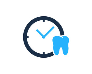 Dental Time Icon Logo Design Element