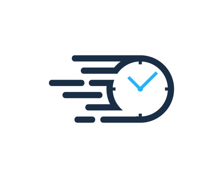 Speed Time Icon Logo Design Element