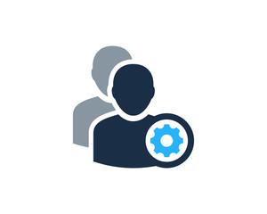 Manage Multi User Icon Logo Design Element