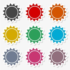 Isolated big sun icon vector