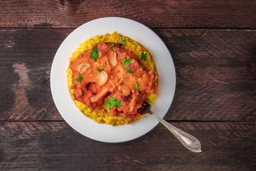 Osso buco with risotto alla milanese and gremolata