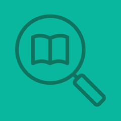 Book search color linear icon