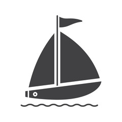 Sailboat glyph icon