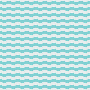 Blue wave seamless pattern. Vector illustration eps10