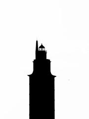 Hercules tower silhouette