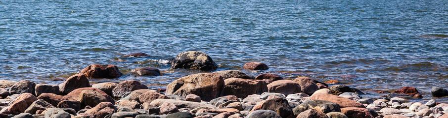 Stone beach in Helsinki