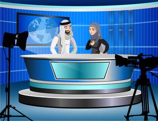 Detailed illustration of muslim TV.