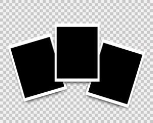 Vector Photo frames set mockup design