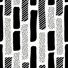Fototapete - Abstract Textured Shapes Pattern