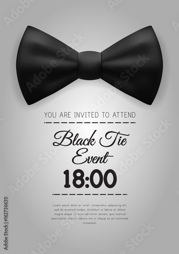 A4 Elegant Black Tie Event Invitation Template Stock Image And