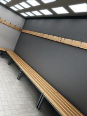 Dressing room of a gymnasium. 3D illustration