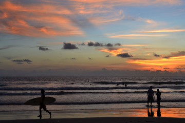 Sunset in Kuta, Bali