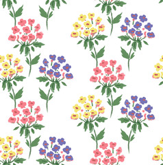 pattern of hydrangea, cute flowers set