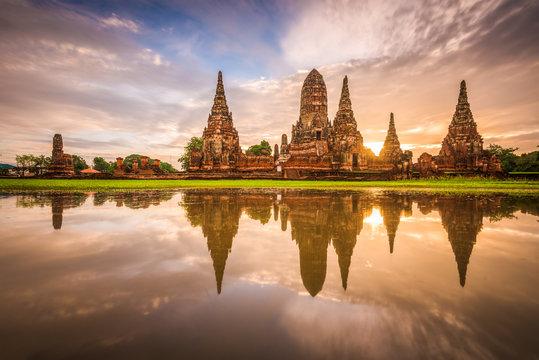 Ayutthaya, Thailand at Wat Chaiwatthanaram