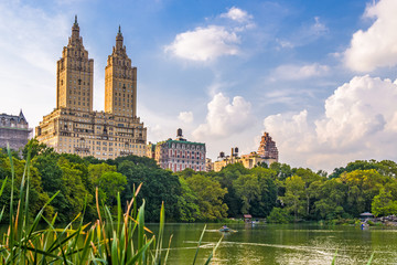Central Park New York City looking towards the Upper West Side.