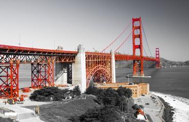 Golden gate bridge and Fort Point, San Francisco, California, USA