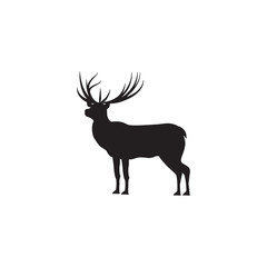 Deer sketch, isolated on white background vector design element
