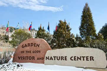 Garden of the Gods Visitor and Nature Center Sign