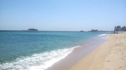 Sunny beach in Sokcho