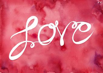Schriftzug Love