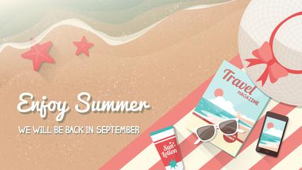 Summer vacations banner