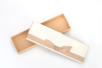 Gift box in various angles on a white background