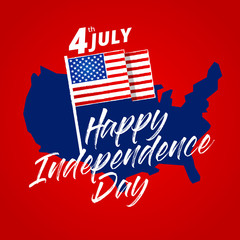 Modern Patriotic 4th Of July United States Of America Independence Day Celebration Illustration, Suitable For Social Media, Print, Background and Other Celebration Purpose