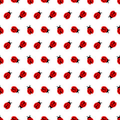 Ladybug Seamless Pattern