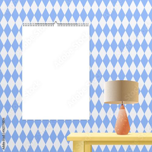 Calendar Binder Mockup Vertical On Transparent Background Spiral