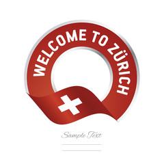 Welcome to Zurich Switzerland flag logo icon
