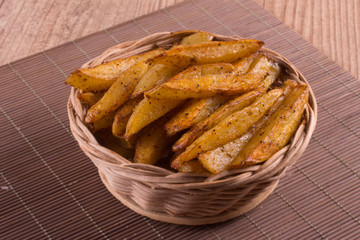 Rustic Frech Fries with paprika powder